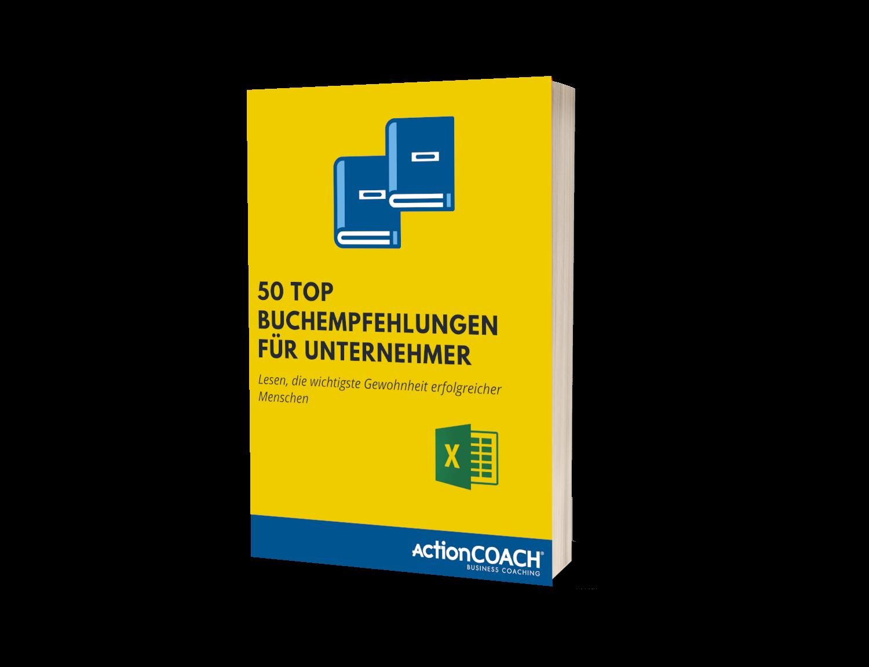 50 Top Buchempfehlungen - 3D E-Book Cover - Breit